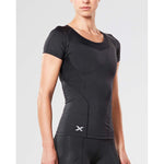 2XU women's compression sport t-shirt black