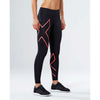 2XU women's mid-rise compression tights black coral