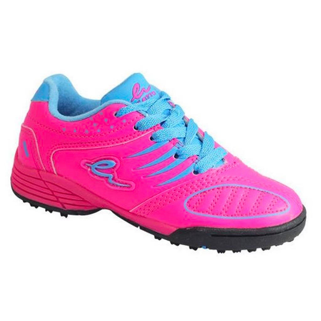 soulier soccer eletto mondo turf junior rose bleu