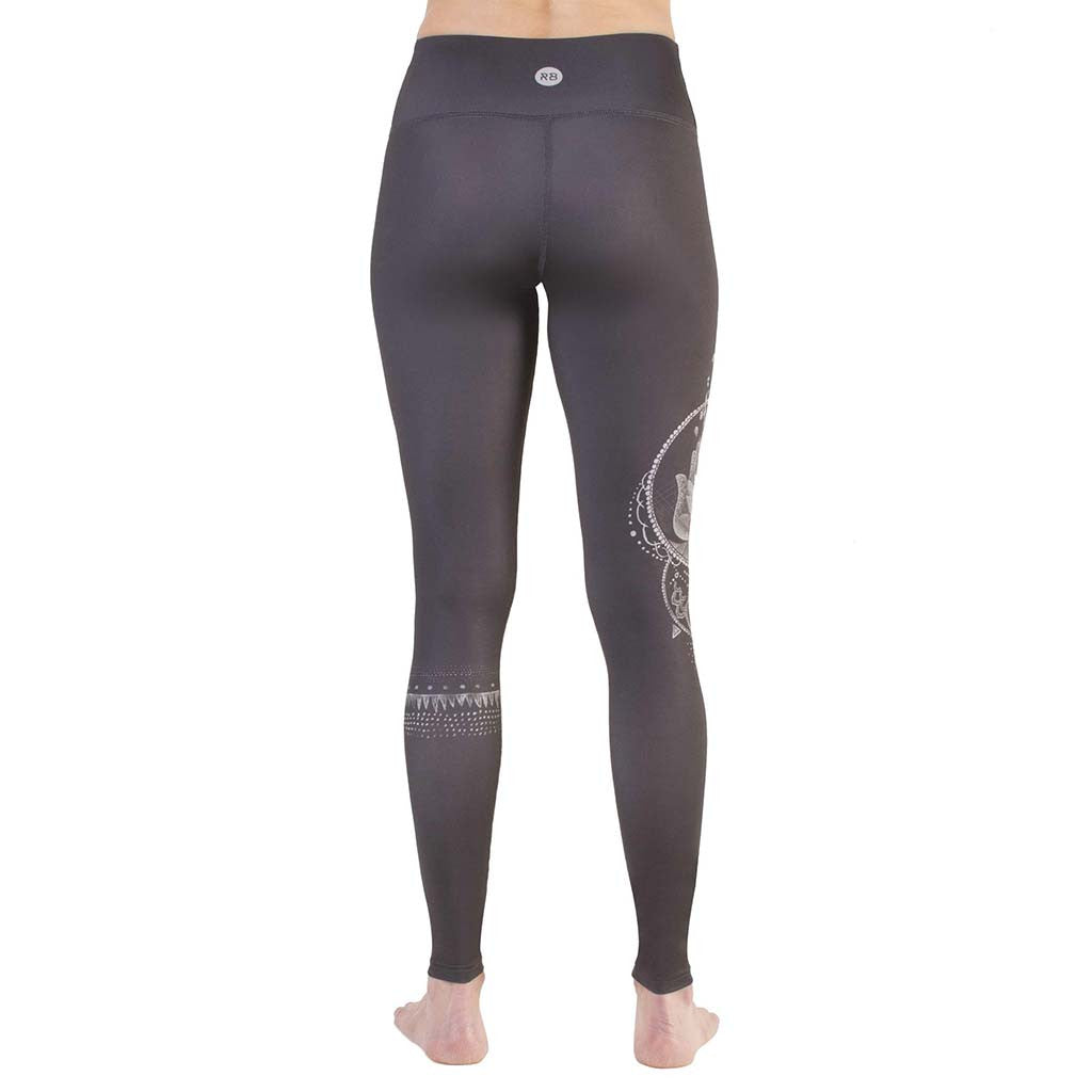 Legging de yoga Rose Buddha Hamsa Chanceux yoga leggings Soccer Sport Fitness
