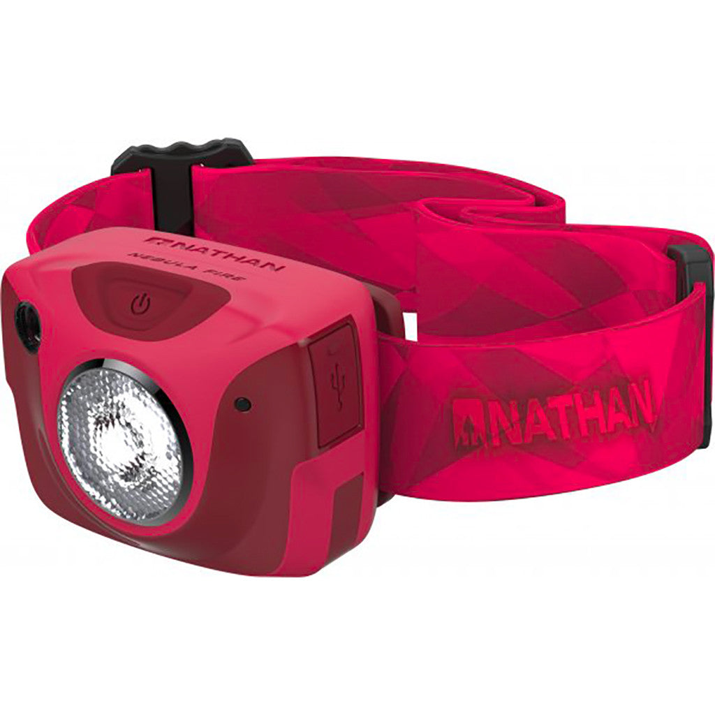 Nathan Nebula Fire runner's headlamp red