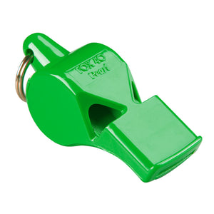 Sifflet d'arbitre avec attache Flex-Coil Fox 40 Pearl Safety vert 2