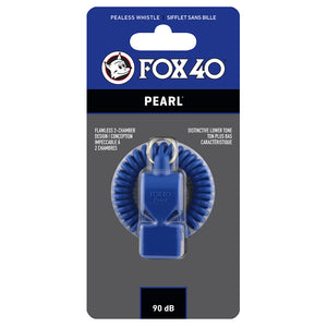 Sifflet d'arbitre avec attache Flex-Coil Fox 40 Pearl Safety bleu