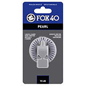 Sifflet d'arbitre avec attache Flex-Coil Fox 40 Pearl Safety blanc