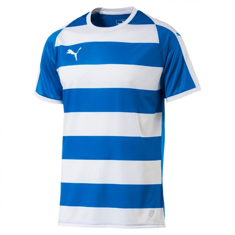 Puma Liga Hooped chandail de soccer bleu royal et blanc