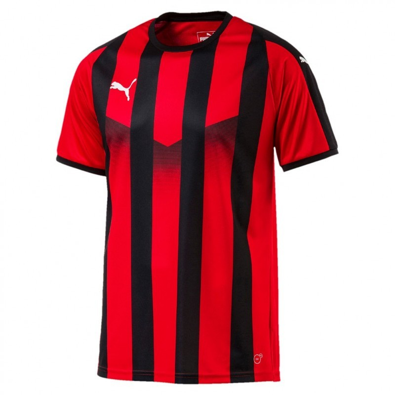 Puma Liga Striped chandail de soccer Rouge Noir