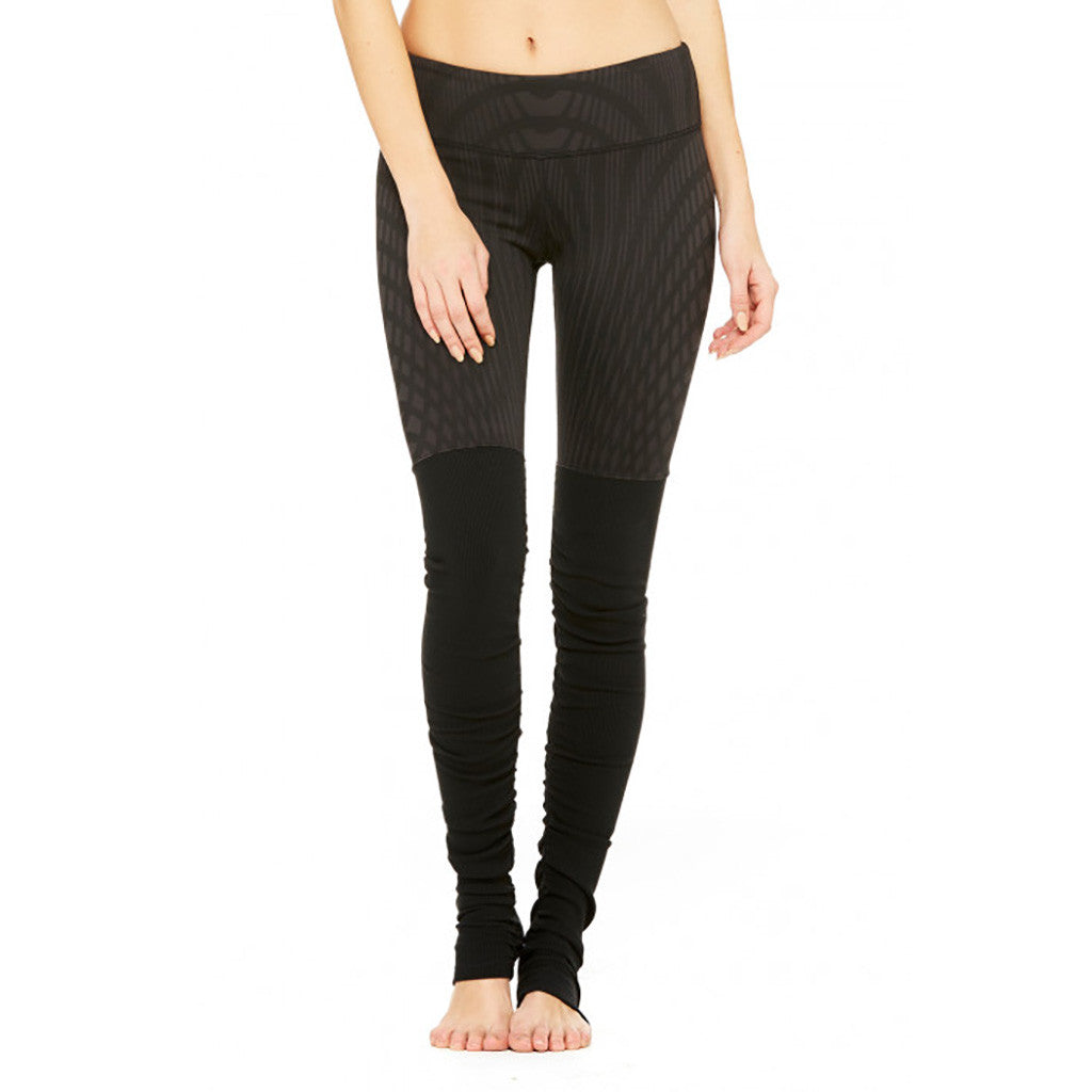 alo Yoga Goddess Ribbed legging pour femme black arches