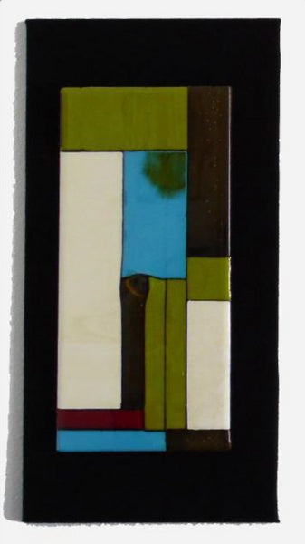 GP004-Single Wall Panel in Mondrian-Style on Black