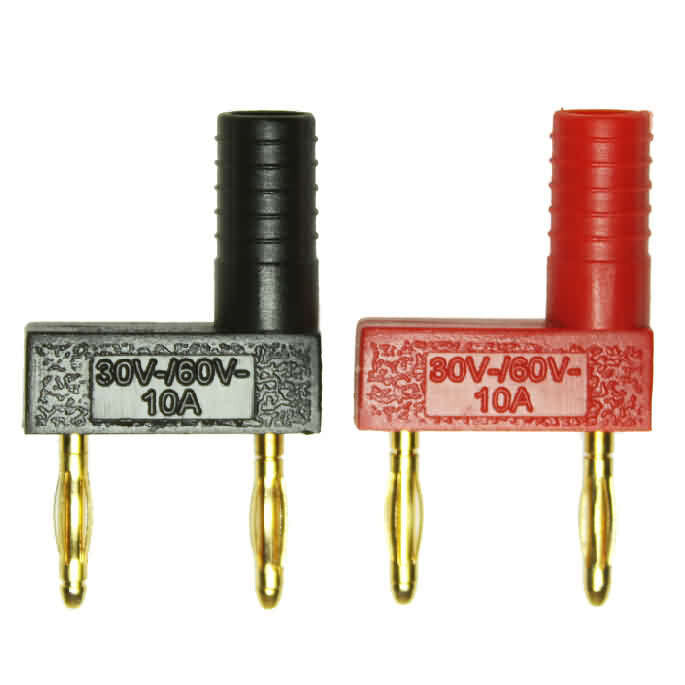 Firgelli Robots Dual Banana Plug with molded ridge - OD: 2mm EXT 2mm
