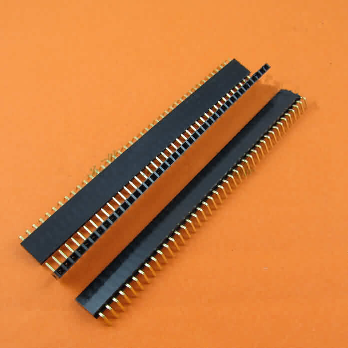 Firgelli Robots 2.54mm Female Header Strip - Single Row/Right Angle/Pin: 2~40