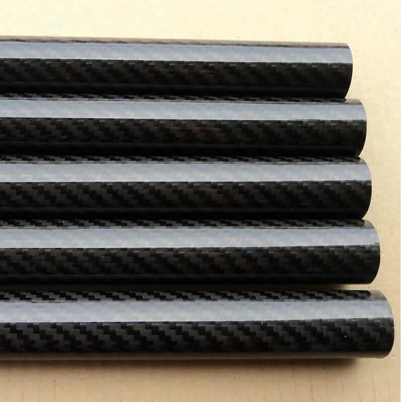 Firgelli Robots 3K Glossy Roll-wrapped Carbon Fibre Tube- Twill Weaving/OD: 4~10mm