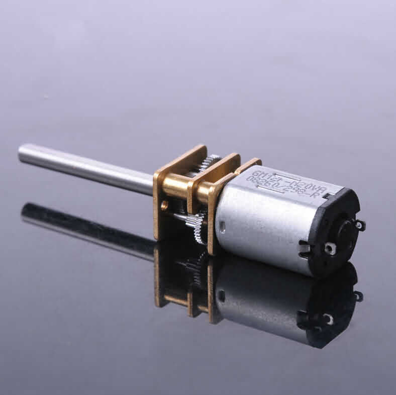 Firgelli Robots N20 Gear DC Motor - 24 * 12 * 10mm / 26mm BARE Output Shaft