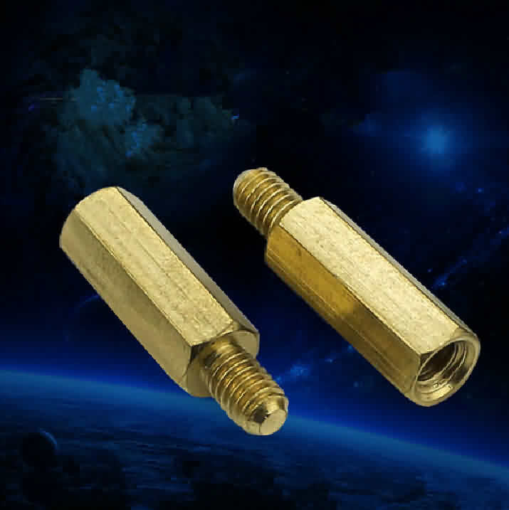 Firgelli Robots Brass Male-Female Standoff / M3 X 9 ~ 13 + 6mm