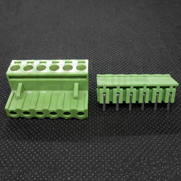 2EDG Screw Terminal Block Connectors in Pair - Pitch: 5 08mm - Right Angle  Pin