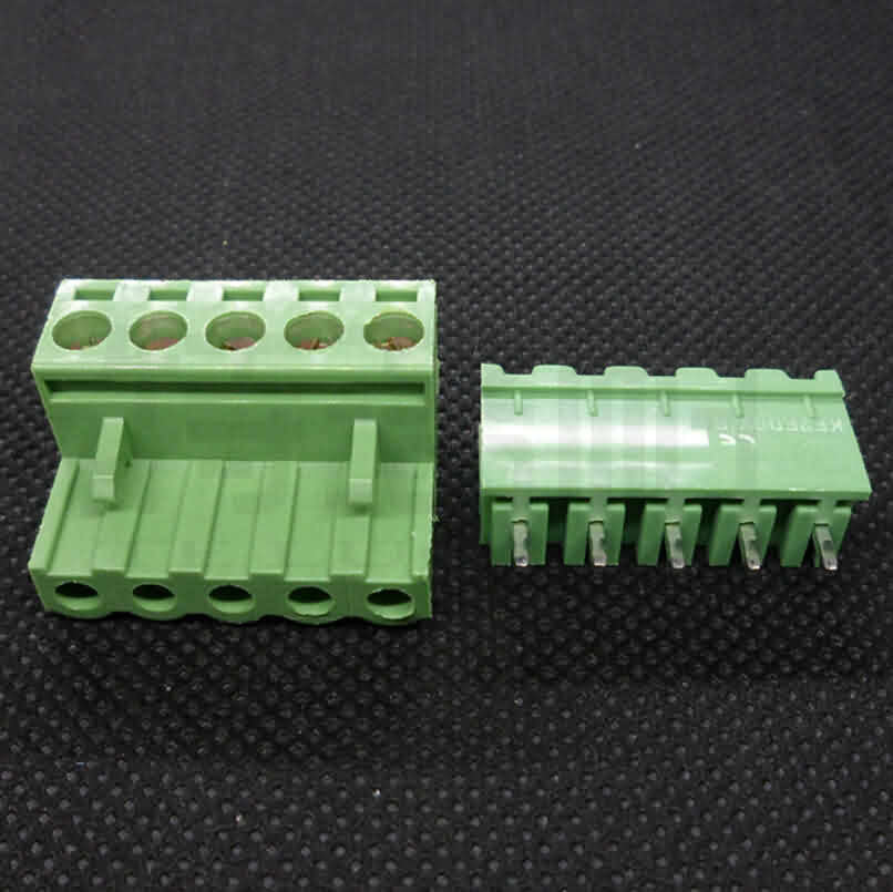 Firgelli Robots 2EDG Screw Terminal Block Connectors in Pair - Pitch: 5.08mm - Straight Pin