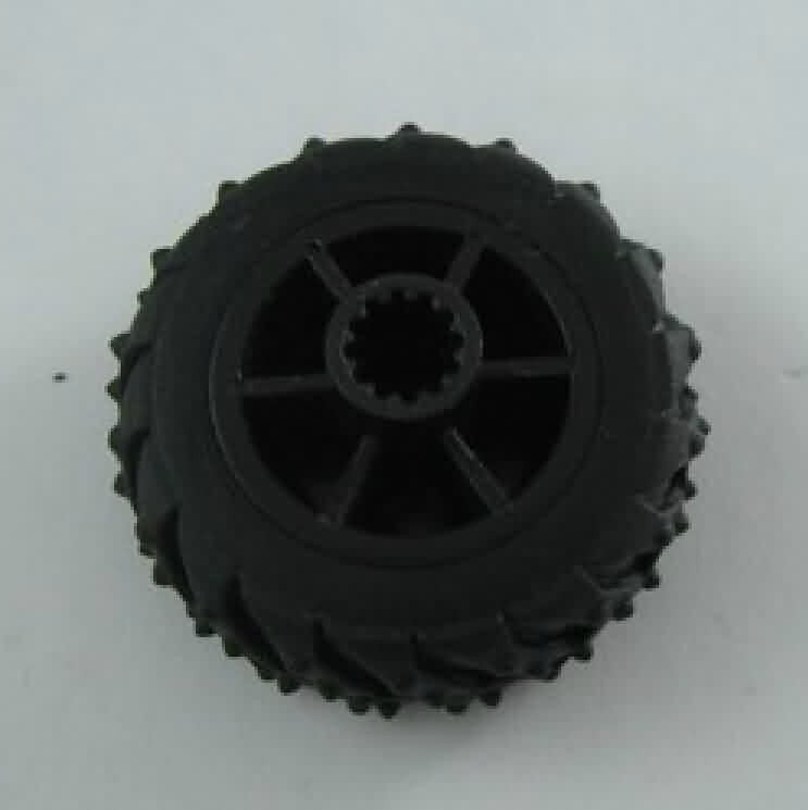 Firgelli Robots Servo-operated Solid Rubber Wheel - OD: 37mm