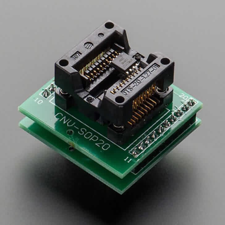 Firgelli Robots SMT Test Socket - SOIC-20 Medium Breakout