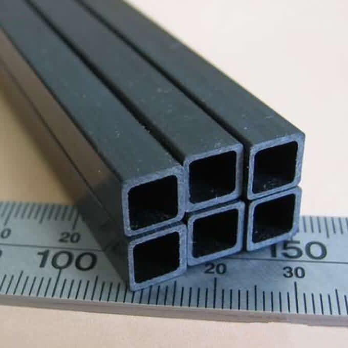 Firgelli Robots Pultruded Carbon Fibre Square Tube with Square Holes