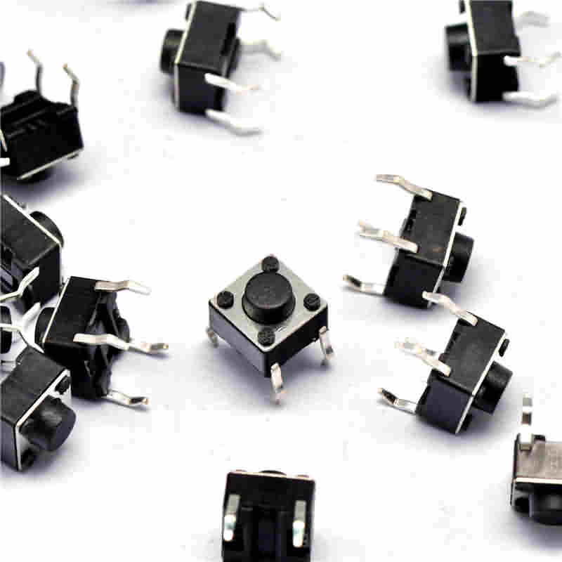 Firgelli Robots Micro Tact Switch - 4 Pin - 6 * 6 * 5 / 6 / 7 / 8 / 10mm