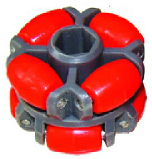 Firgelli Robots Hex-shape Bore Omni Wheel- OD: 40mm