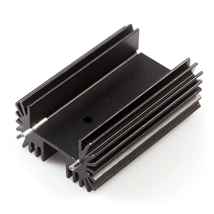 Firgelli Robots High Power Extruded Heat Sink with Large Radial Fins and Straight Pins