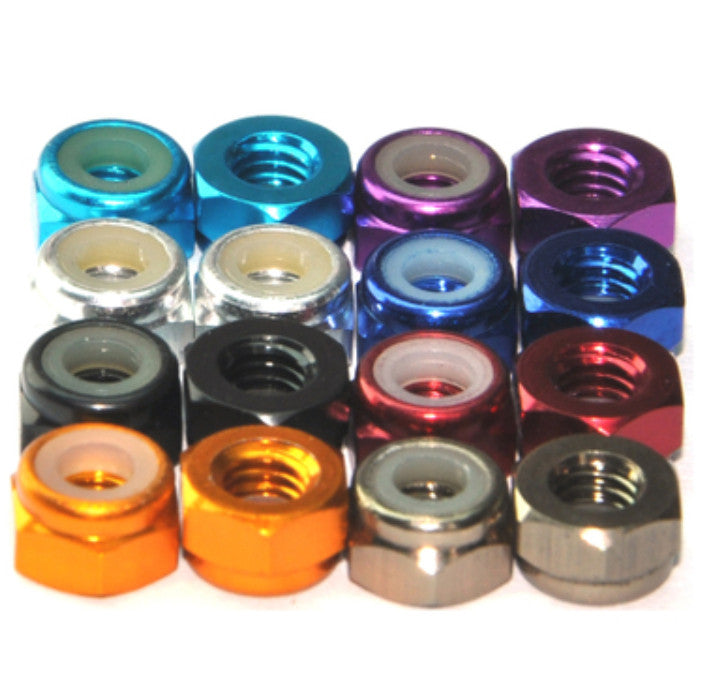 Firgelli Robots Hex Nuts - Special Edition for RC Projects - M2 - 8 Colors to Choose