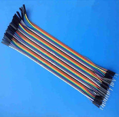 40 Pin Paralled Rainbow Cable with Housing - Pitch: 2.54mm / F-F / F-M