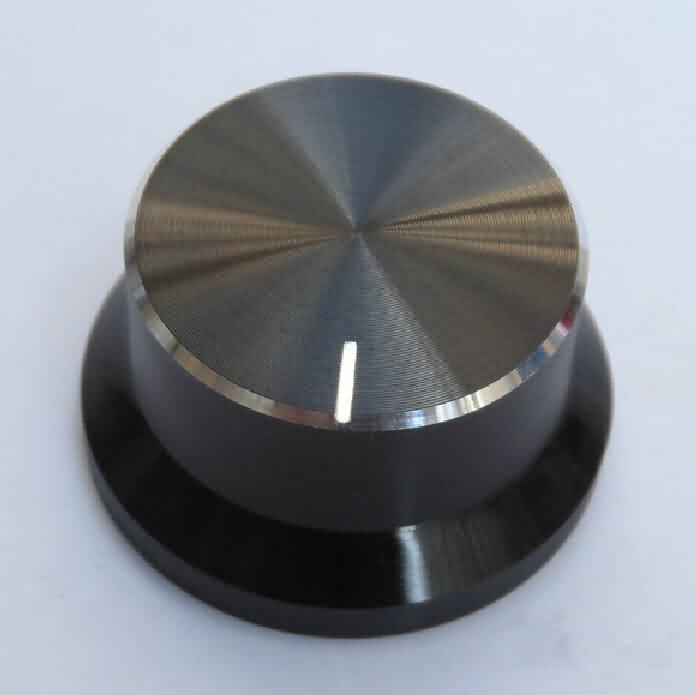 Firgelli Robots Poly-Aluminum Snap-in Rotary Knob - OD: 30mm / H: 16mm