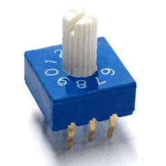 Firgelli Robots 3:3 Through-hole Rotary / SMD DIP Switch - 10 Position Shaft Type