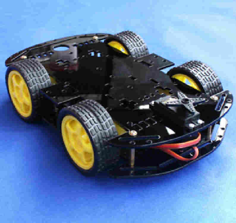 Firgelli Robots 2-Deck 4-Wheel Robotic Chassis Kit