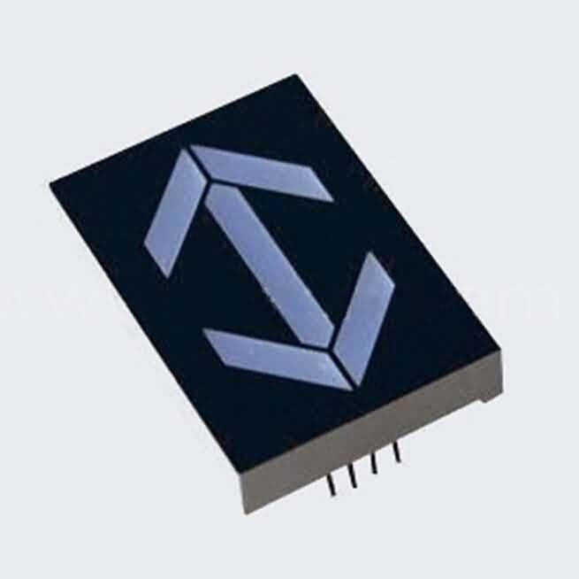 Arrow-head LED display - Matrix Height by 1.0 inch with Different Color Emitting