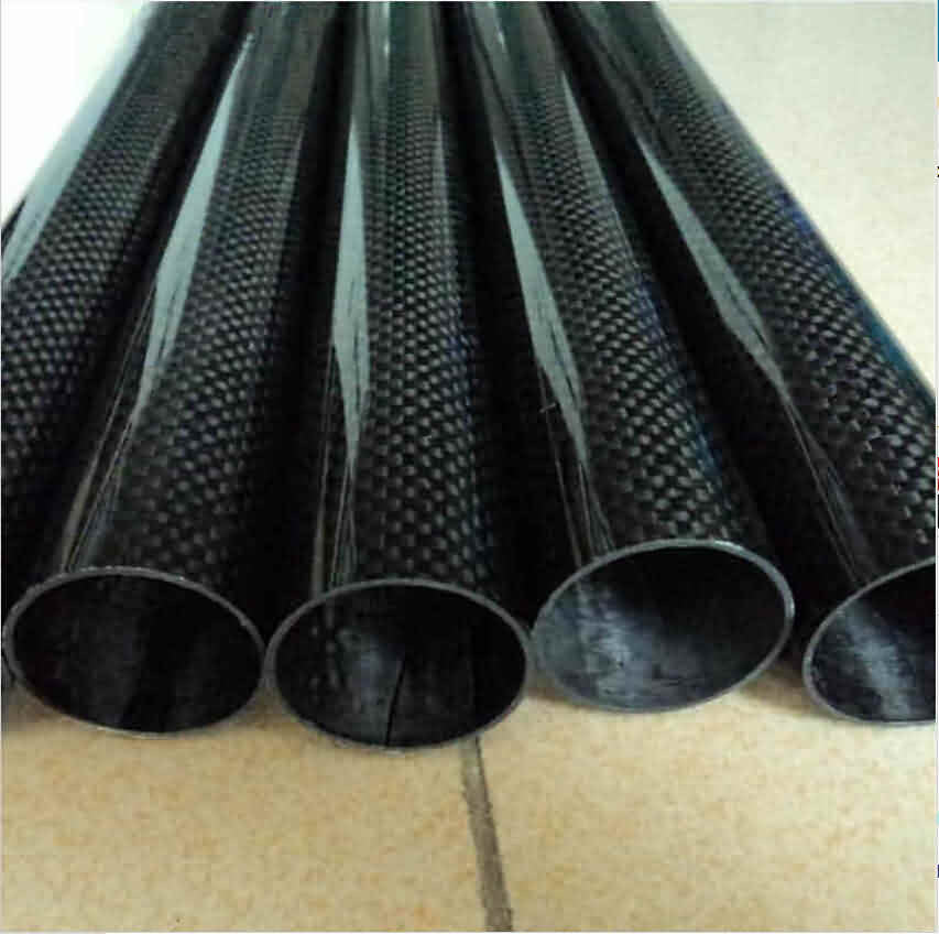 Firgelli Robots 3K Roll-wrapped Carbon Fibre Round Tube - Plain Weaving/OD: 11~30mm