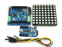 Firgelli Robots Magic 8X8 RGB LED Matrix Colorduino Kit