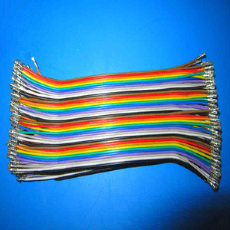 Firgelli Robots 40 Pin Paralleled Rainbow Cable Crimped with JST-XH Terminals