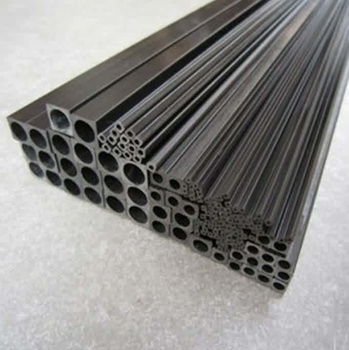 Firgelli Robots Pultruded Carbon Fibre Square Tubes with Round Holes