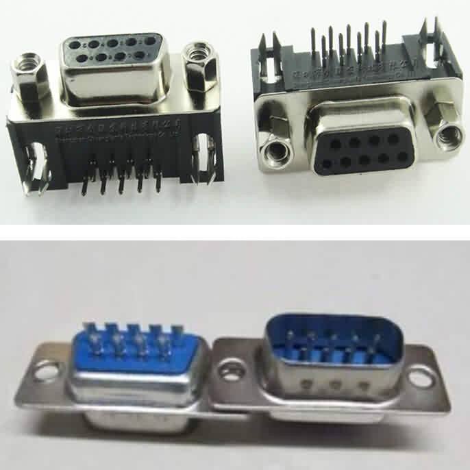 Firgelli Robots 9-Pin RS232 Pin-out - Male / Female --Soldering Type