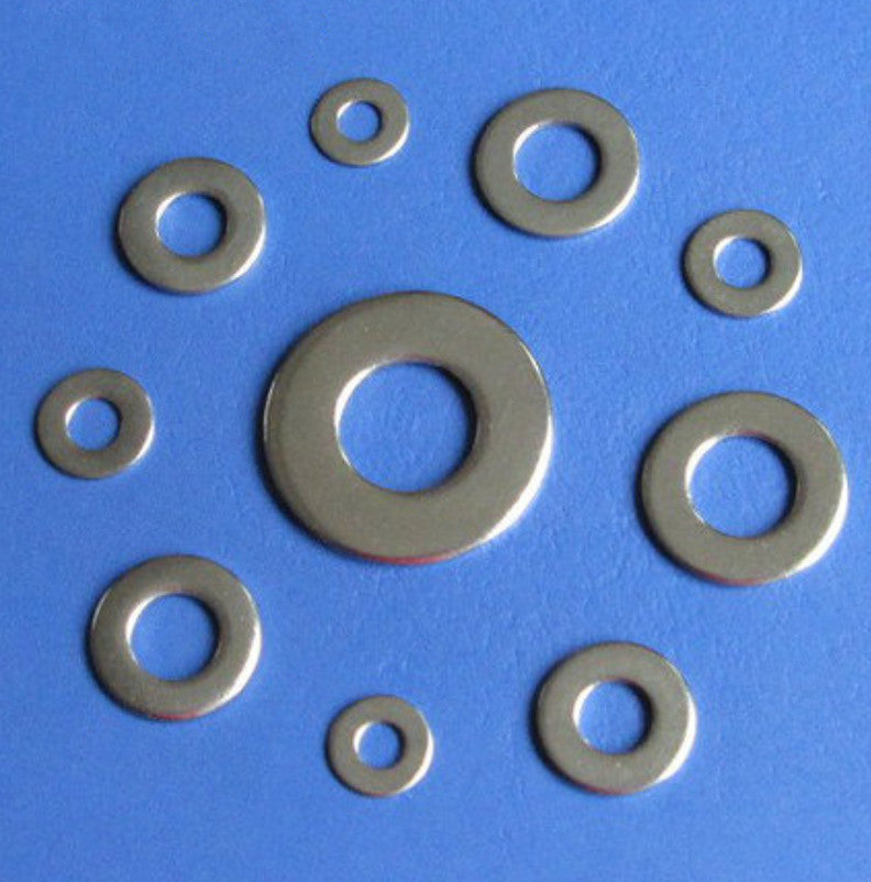 Firgelli Robots High Tensile Flat Metal Screw Washer M2 ~ M6 - Stainless Steel