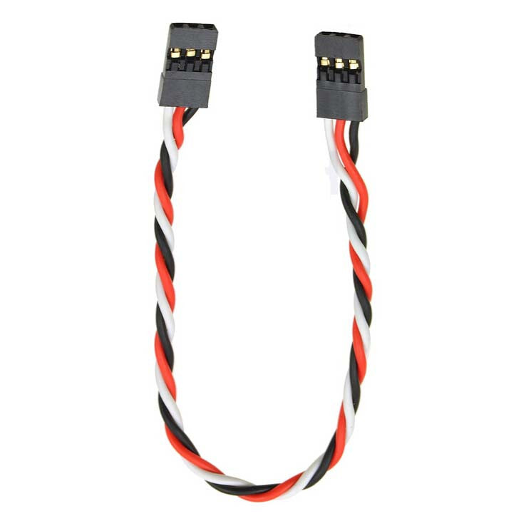 Firgelli Robots Twisted Servo Cable: Female JR/Futaba - Female JR/Futaba - 60 starands
