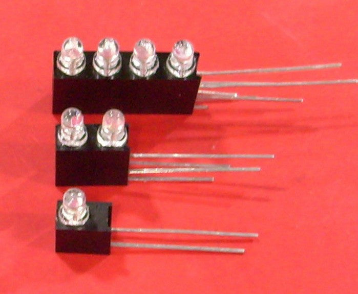 Firgelli Robots 1 ~ 4 Right-angled Holder for 3MM LEDs