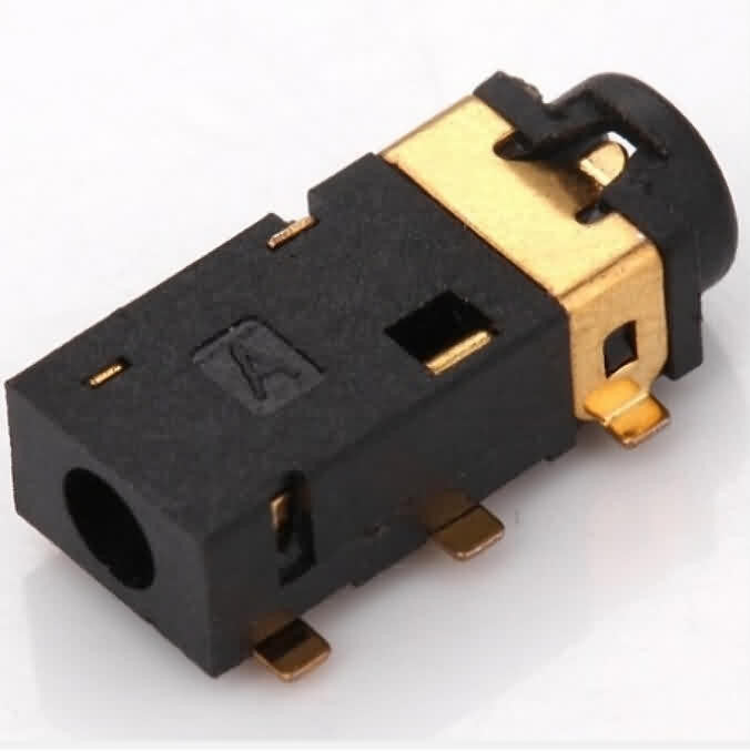 Firgelli Robots Gold-plated SMD Audio Jack Socket- Hole Dia.: 2.5mm