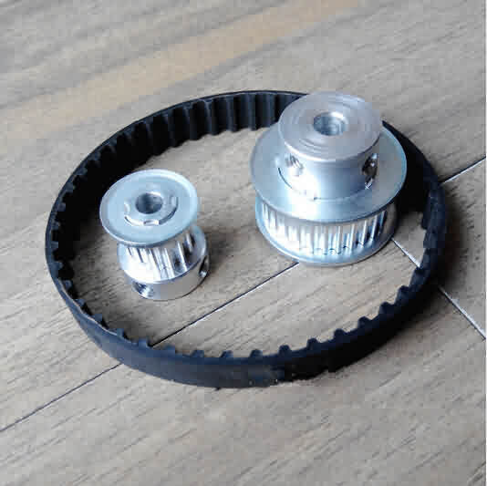 Firgelli Robots HTD 3M Aluminum Synchronous Pulley Set / Ratio- 1:4 / Teeth: 20-80