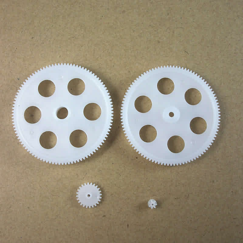 Firgelli Robots Plastic Gear Kit M: 0.4 Teeth: 7 / 24 / 100