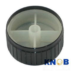 Poly-Aluminum Snap-in Rotary Knob - OD: 32mm / H: 17mm