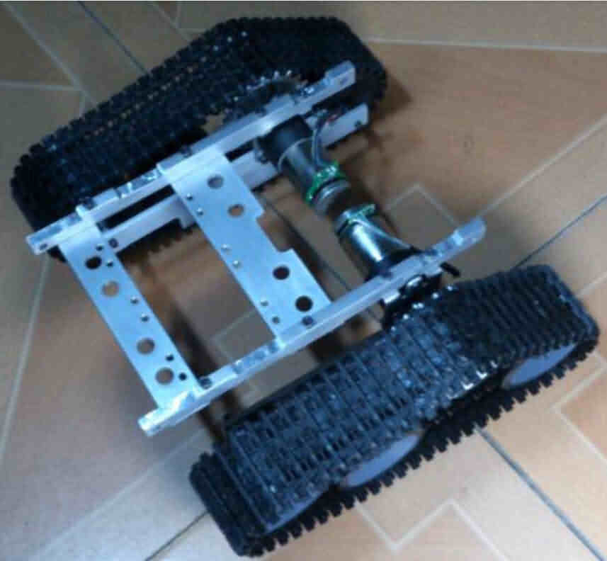 Robotic Crawler Mobile Base Kit - Metal Frame and Sprockets