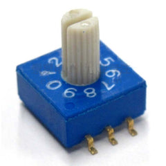 3:3 Through-hole Rotary / SMD DIP Switch - 10 Position Shaft Type