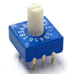 3:3 Through-hole Rotary / SMD DIP Switch - 16 Position Shaft Type