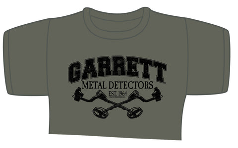 Garrett Metal Detecting on Military Green