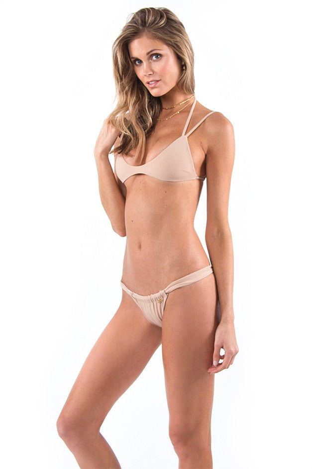 The Innuendo Top Nude / White