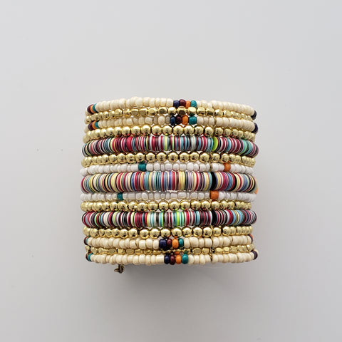 Stacked Beaded Cuff