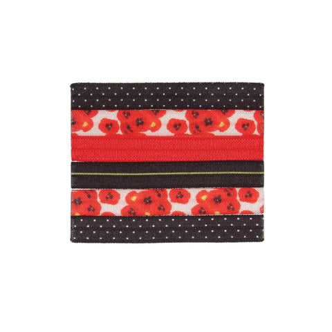 Banded - Provincial Poppy - Narrow Ties